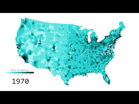 Mapped History of Population in America