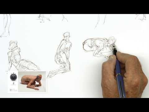 Timed Model Drawing Session 1 // Instructor: Glenn Vilppu