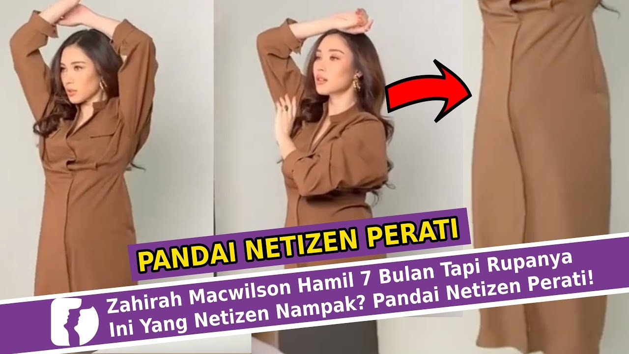 Download Zahirah Macwilson Hamil 7 Bulan Tapi Rupanya Ini Yang Netizen Nampak? Pandai Netizen Perati!