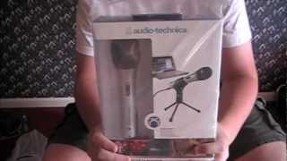 audio technica atr 2100 usb mic review unboxing my new workstation setup