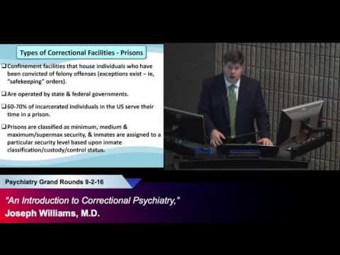 """""""An Introduction to Correctional Psychiatry,"""" Joseph Williams, M.D."""