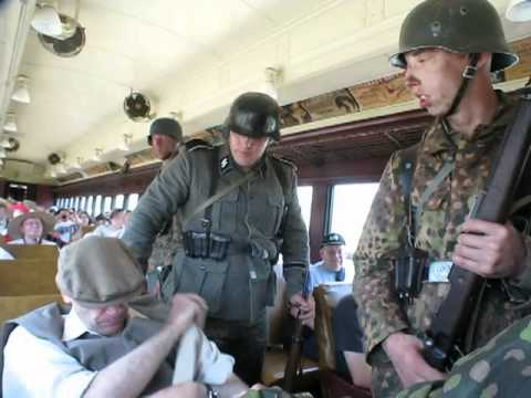 Illinois Railway Museum  2012  WWII Re-enactment Ambush German Trains