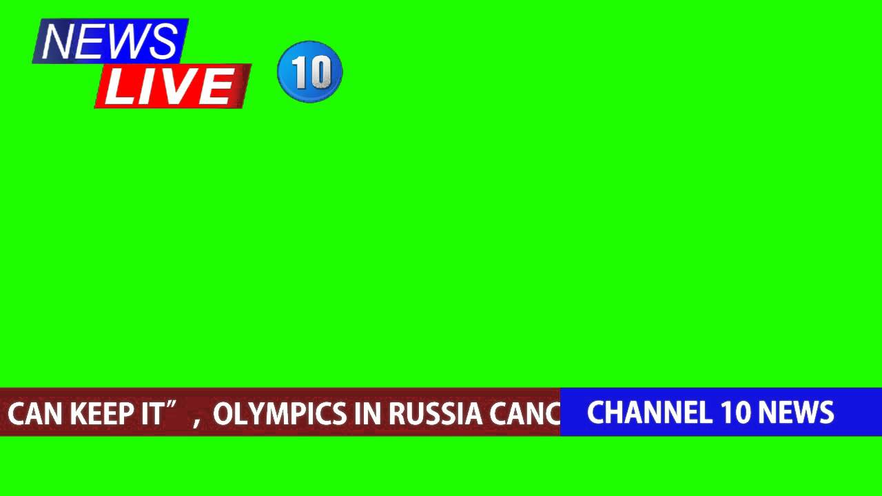 Live News Broadcast Overlay Green Screen - YouTube