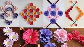 5 Beautiful Paper Flower Wall Decorations - DIY Wall Decor - Paper Craft