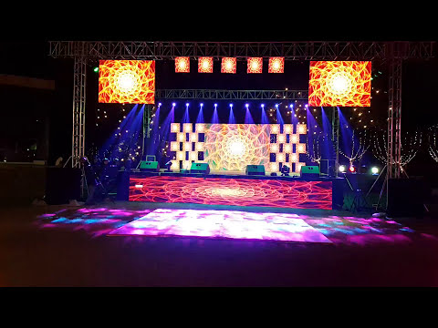 Best dj sounds light led wall n stage system with sharpie light effects for wedding 09891478183