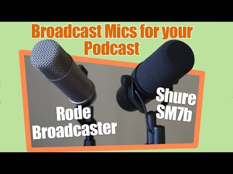 End Address Mics! Rode Broadcaster vs Shure SM7b