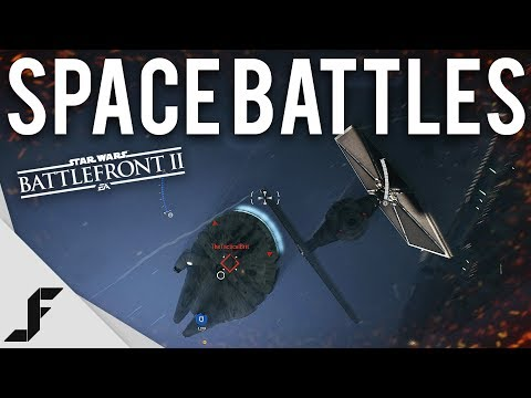 EPIC SPACE BATTLES - Star Wars Battlefront II Gameplay Extended