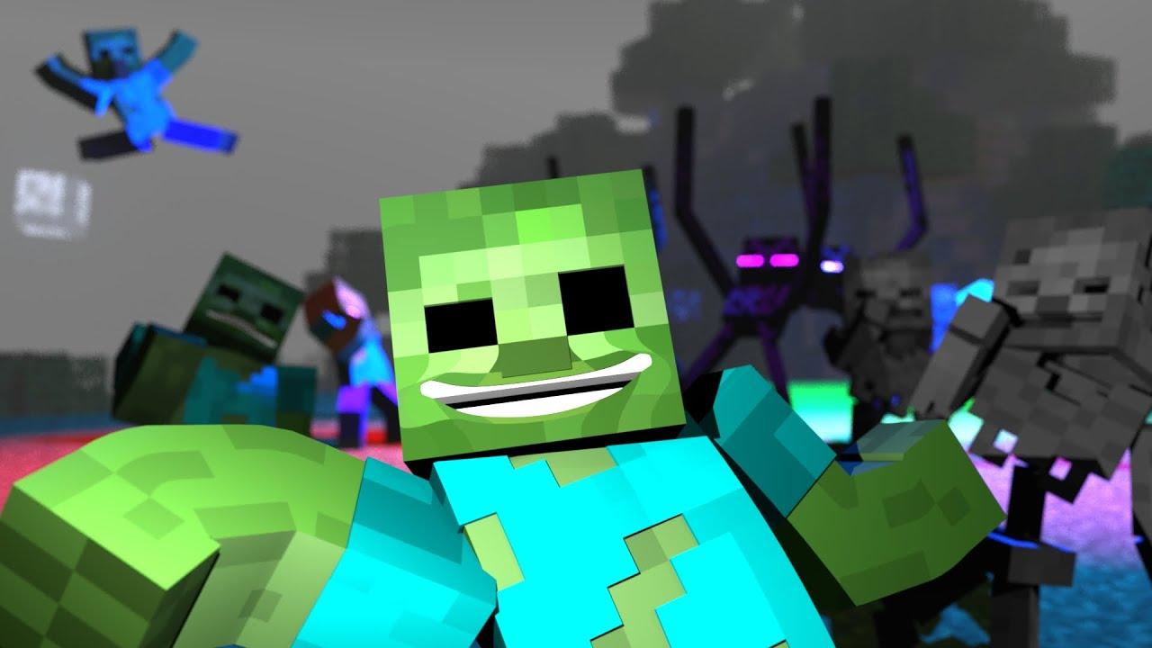 """Zombie Dance"" | A Minecraft Music Video (kinda)"