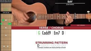 Say Guitar Cover John Mayer 🎸|Tabs + Chords|