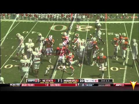 Miami Hurricanes vs. North Carolina State (2012) - 1st Half - Hurricane FlashForward