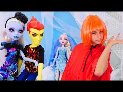 ❤️Эбби РАСТАЯЛА в Школе #МонстрХай Эбби и Хит История любви 👨❤️💋👨 Видео с куклами для Девочек