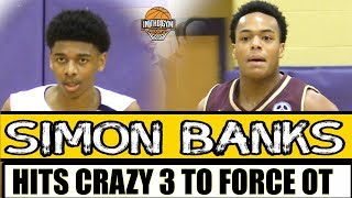 Brebeuf's Simon Banks HITS HUGE 3 TO FORCE OT vs Scrappy Traders Point Squad