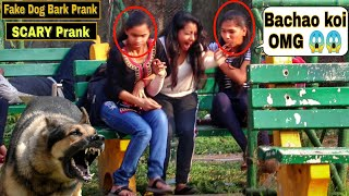 Fake Dog Bark Prank - Girl's Gone Mad | Epic Reactions| Pranks In India| @Prank Buzz | By TCI