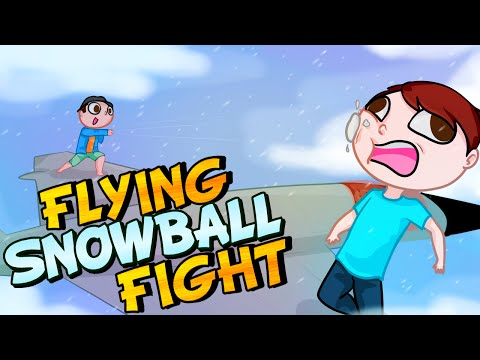 FLYING SNOWBALL FIGHT! - GTA 5 Online Funny Moments
