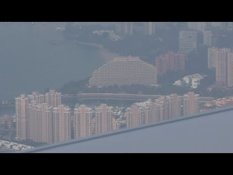 Awesome approach into Hong Kong with ATC AUTO LAND Practice HK Express Flight