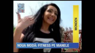 NARCISA , reportaj Kanal D aprilie 2016 sport in parc pe manele