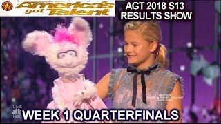 DARCI LYNNE RETURNS TO AGT  with Petunia QUARTERFINALS 1 America's Got Talent 2018 AGT