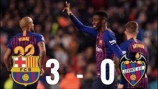 Barcelona vs Levante [3-0], Copa del Rey 2019, 2nd Leg - MATCH REVIEW