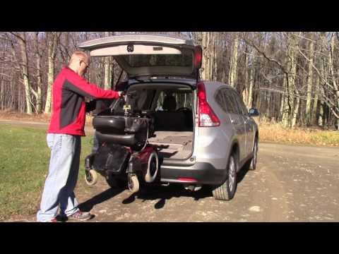 Multi-Lift Used As Wheelchair Lift In Rear Of Honda CR-V (CRV ) (Loading) MVI 3156 ^