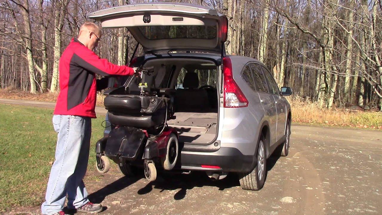 Multi-Lift Used As Wheelchair Lift in Rear of Honda CR-V (CRV ) (Loading) MVI 3156 ^ - YouTube