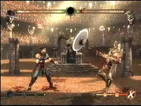 Mortal Kombat 9 Ladder mode Kung Lao  vs Shao Kahn Final boss