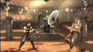 Mortal Kombat 9 Ladder mode Kung Lao  vs Shao Kahn Final boss