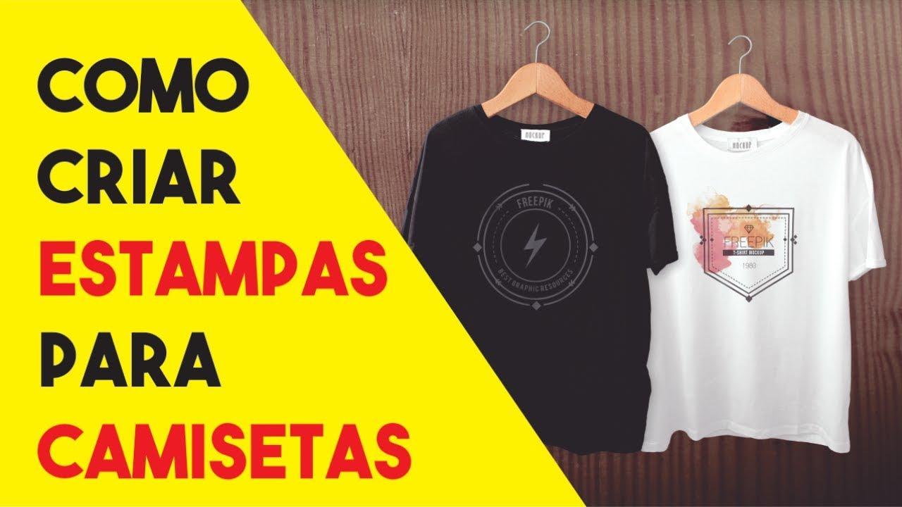 090f0c11a Como Criar Estampas para Camisetas - YouTube