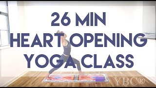 26 Minute Heart Opening Yoga Class