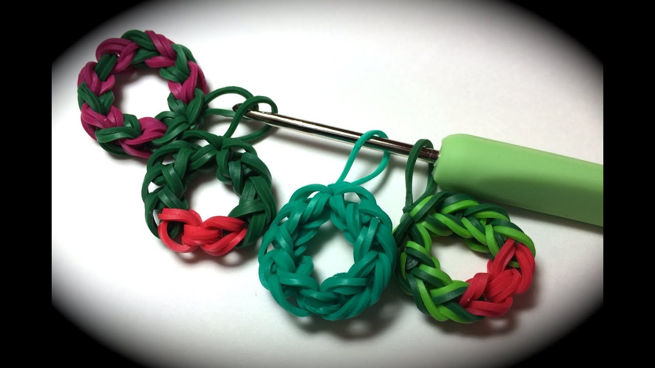 Rubber Band Wreath Charm Without The Rainbow Loom Uses