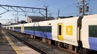 JR東日本E257系500番台(幕張車両センターNB-08編成)+(幕張車両センターNB-07編成)。