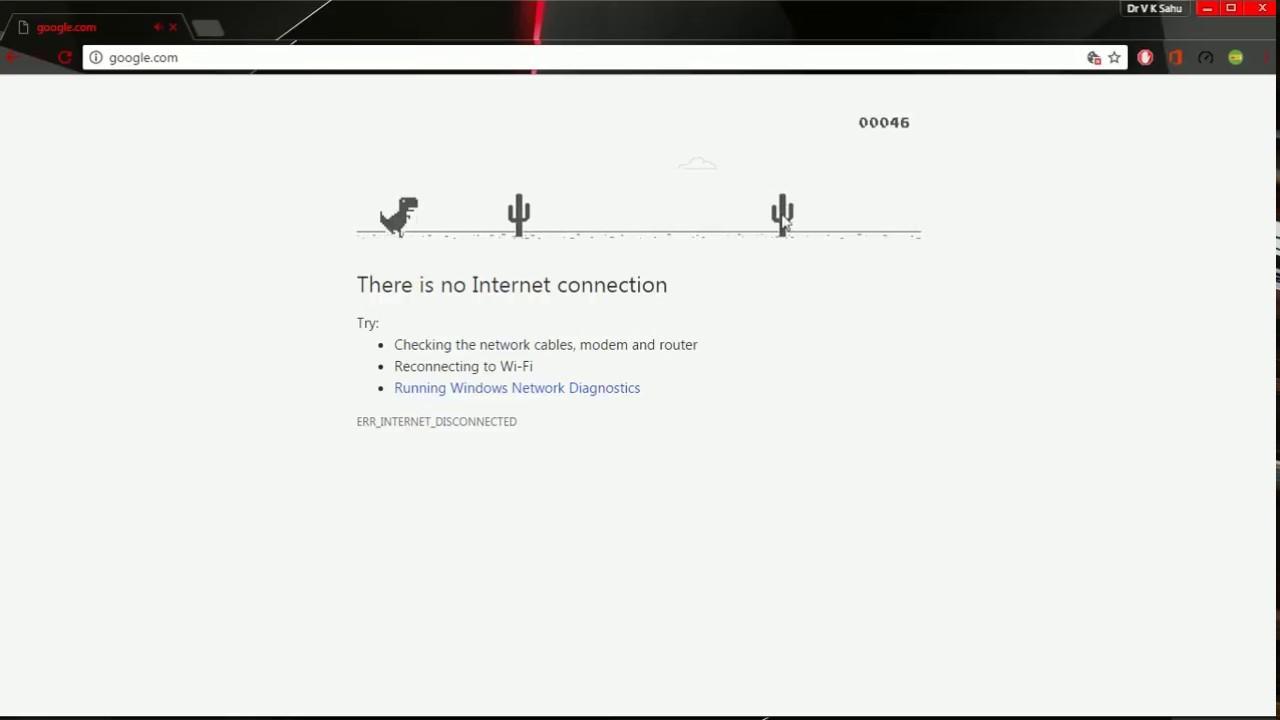 t-rex chrome offline game
