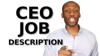Small Business Leadership: CEO Job Description