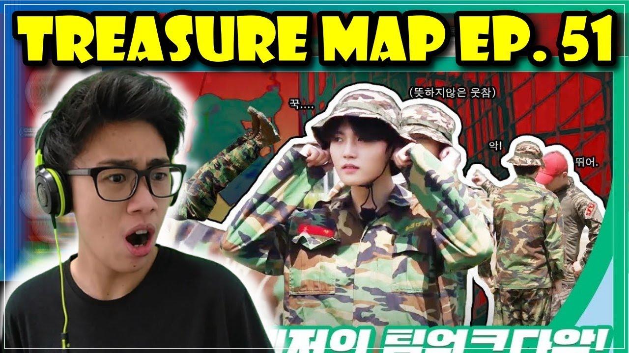 [TREASURE MAP] EP.51 REACTION 🔥 이것이 트레저의 팀워크다악! 🔥 극기 훈련 캠프