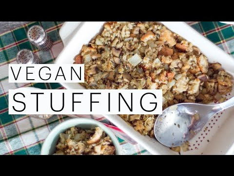 Diy vegan stuffing recipe vegetarian dressing vegan for Vegetarian christmas stuffing