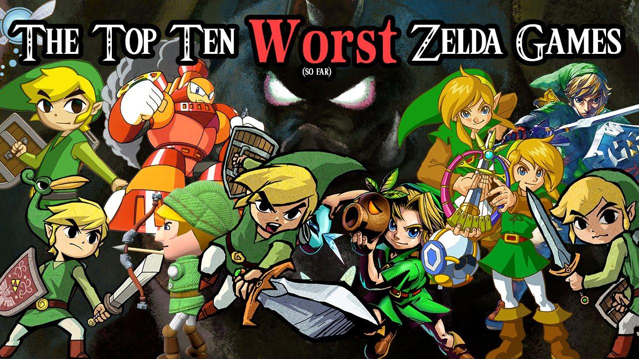 The Top Ten Worst Zelda Games So Far The D Pad Youtube