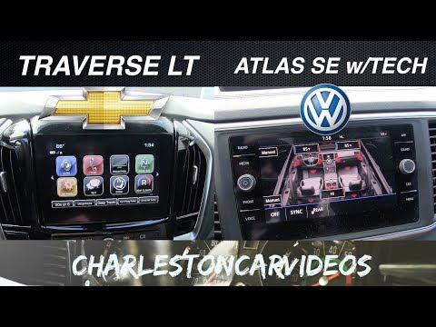 TECH on 2018 VW ATLAS vs 2018 CHEVY TRAVERSE | Review | LCD SCREENS