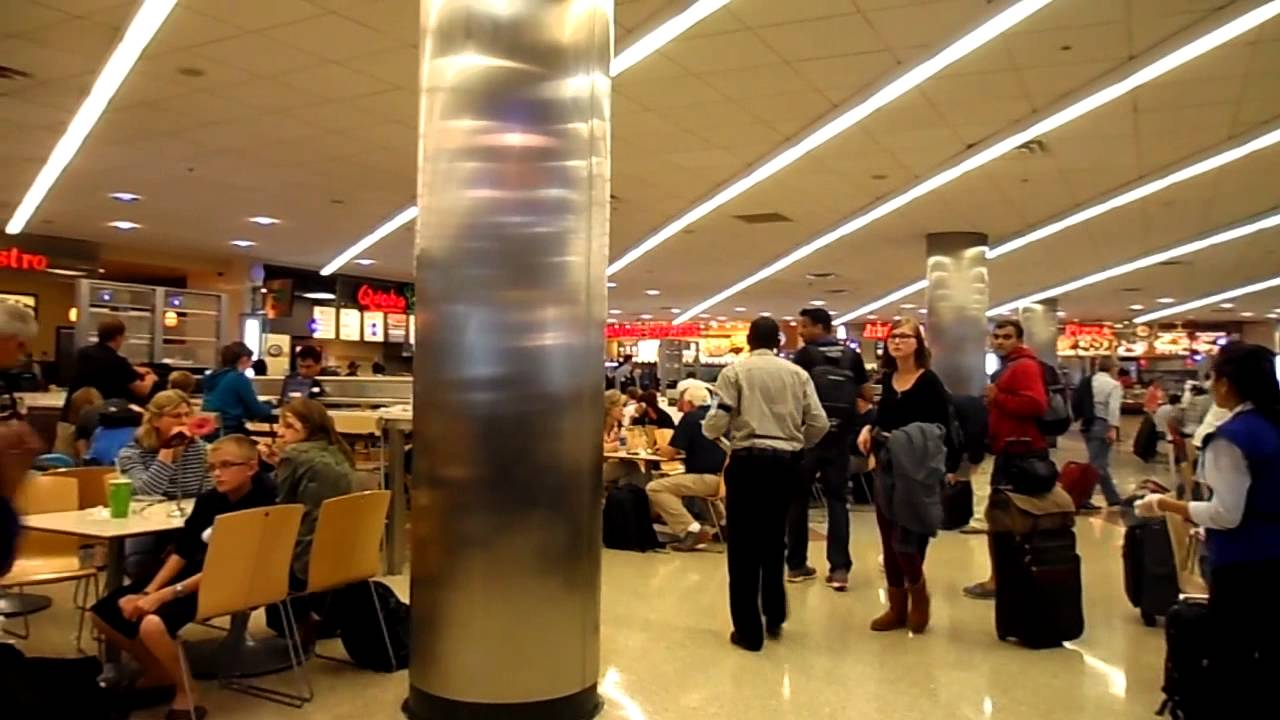 atlanta airport concourse e food court youtube