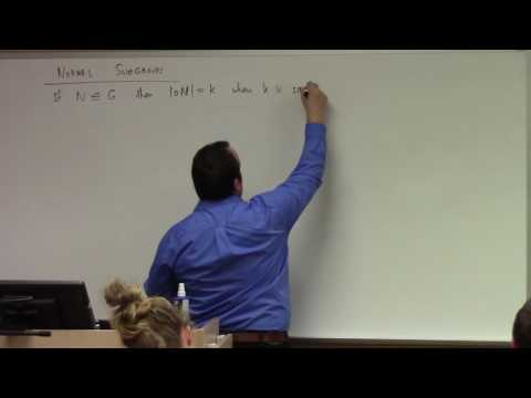 Abstract Algebra: L14, towards first isomorphism theorem, 10-3-16