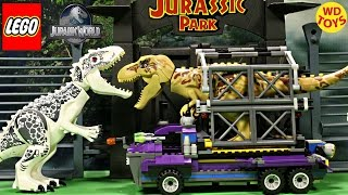 New Tyrannosaurus Rex Capture Vehicle - Lego compatible Speed Build Stop Motion Animation Unboxing