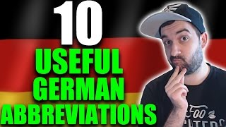 LEARN GERMAN | 10 Abbreviations / Short Forms & What They Mean! | German Lesson | VlogDave