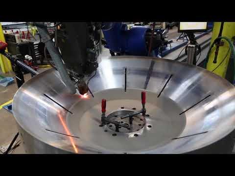 Hardfacing a chip bowl using laser cladding