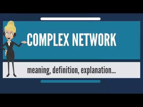 What is COMPLEX NETWORK? What does COMPLEX NETWORK mean? COMPLEX NETWORK meaning & explanation