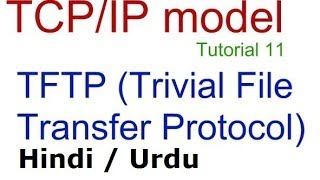 TFTP Trivial File Transfer Protocol in Hindi Urdu, TCP/IP model tutorial 10