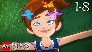 LEGO Elfos de la Nueva Temporada de la Compilación de todos los episodios de la 1 a la 8 - dibujos animados Películas Completas (en inglés 30 minutos)