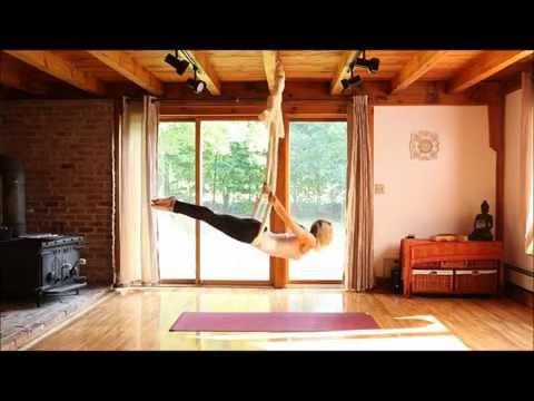 Aerial Yoga - silk hammock - with Karlene Murphy