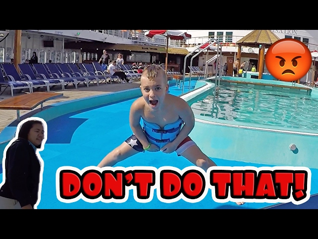 GETTING IN TROUBLE ON A CRUISE!