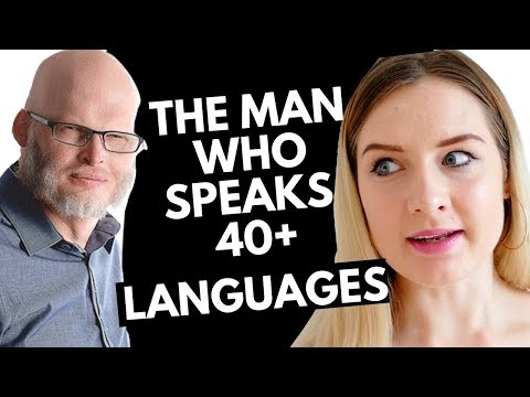 AN  WITH RICHARD SIMCOTT - THE MAN WHO SPEAKS 40+ LANGUAGES in 7 languages