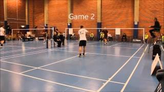 Swedish badminton league Västerås vs Spånga - Jesper de Waal vs Björn Sidfalk