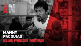 Manny Pacquiao KILLER WORKOUT ROUTINE!!! - EsNews EXCLUSIVE