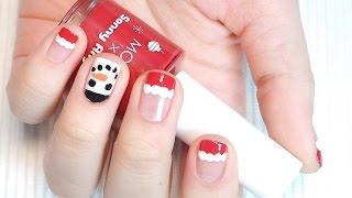 크리스마스 네일아트 #2 - 산타모자 & 눈사람…